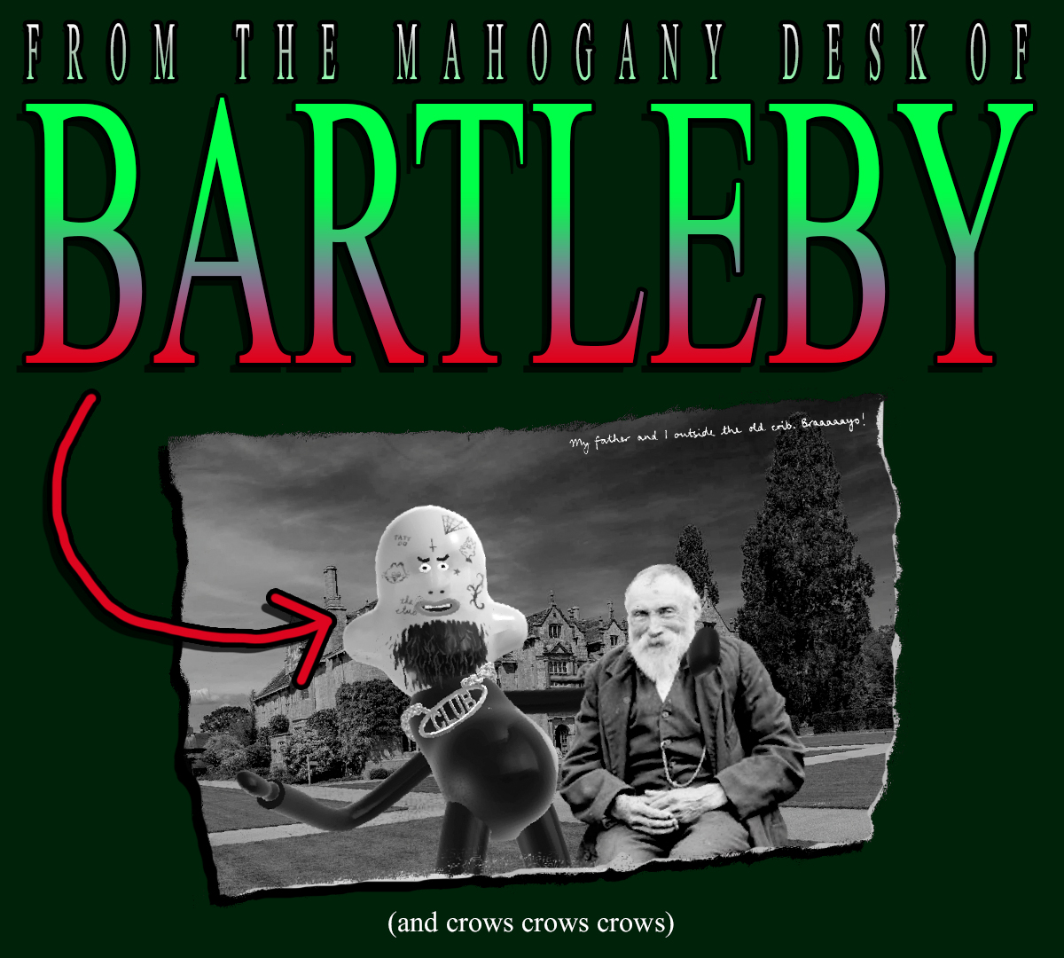 An Announcement from BARTLEBY (and crows crows crows)